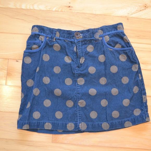 Boden Other - polka dot corduroy skirt boden 10 blue brown